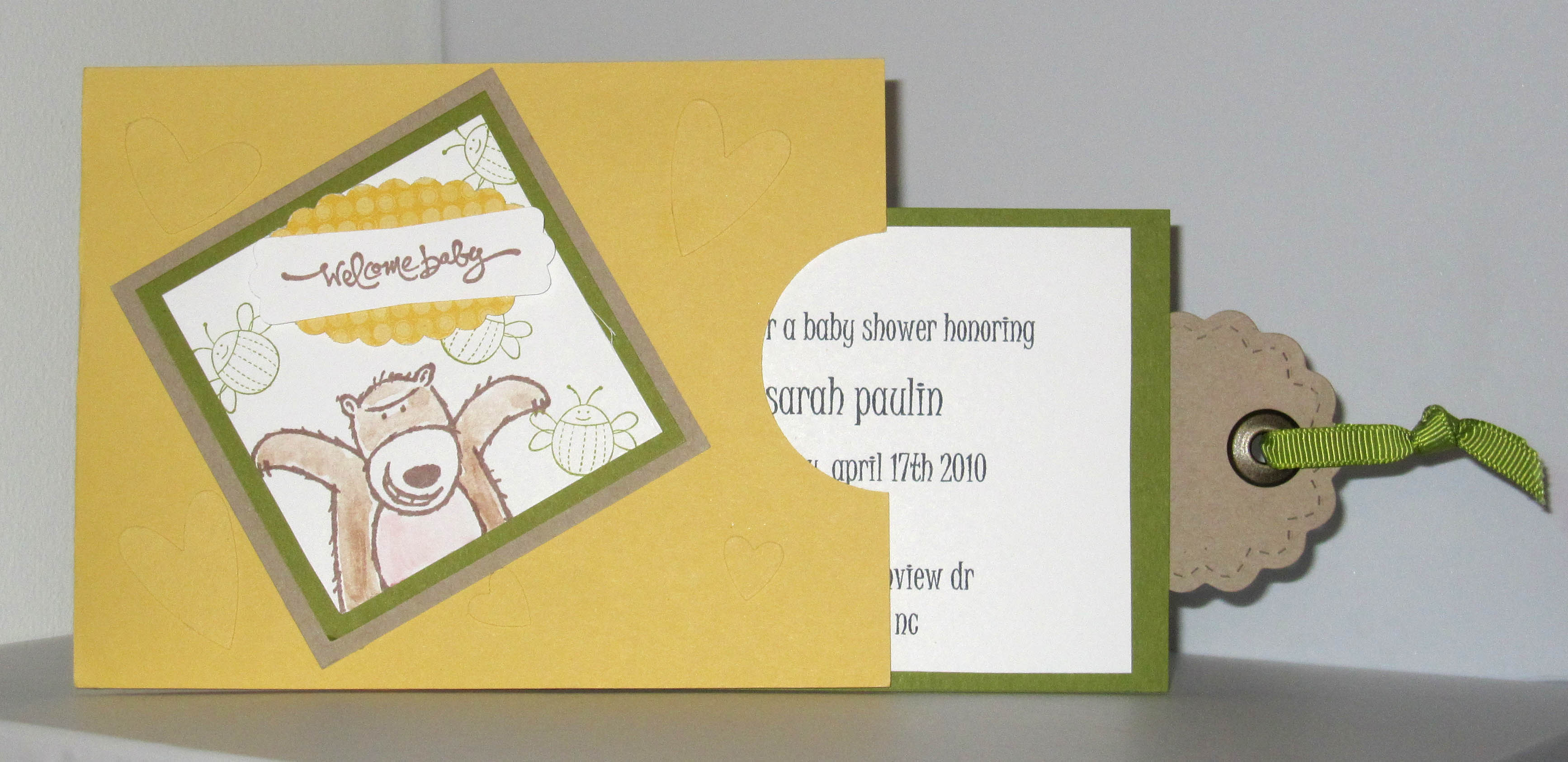 Stampin up demonstrator brandy cox features a baby invitation using now filmwisefo