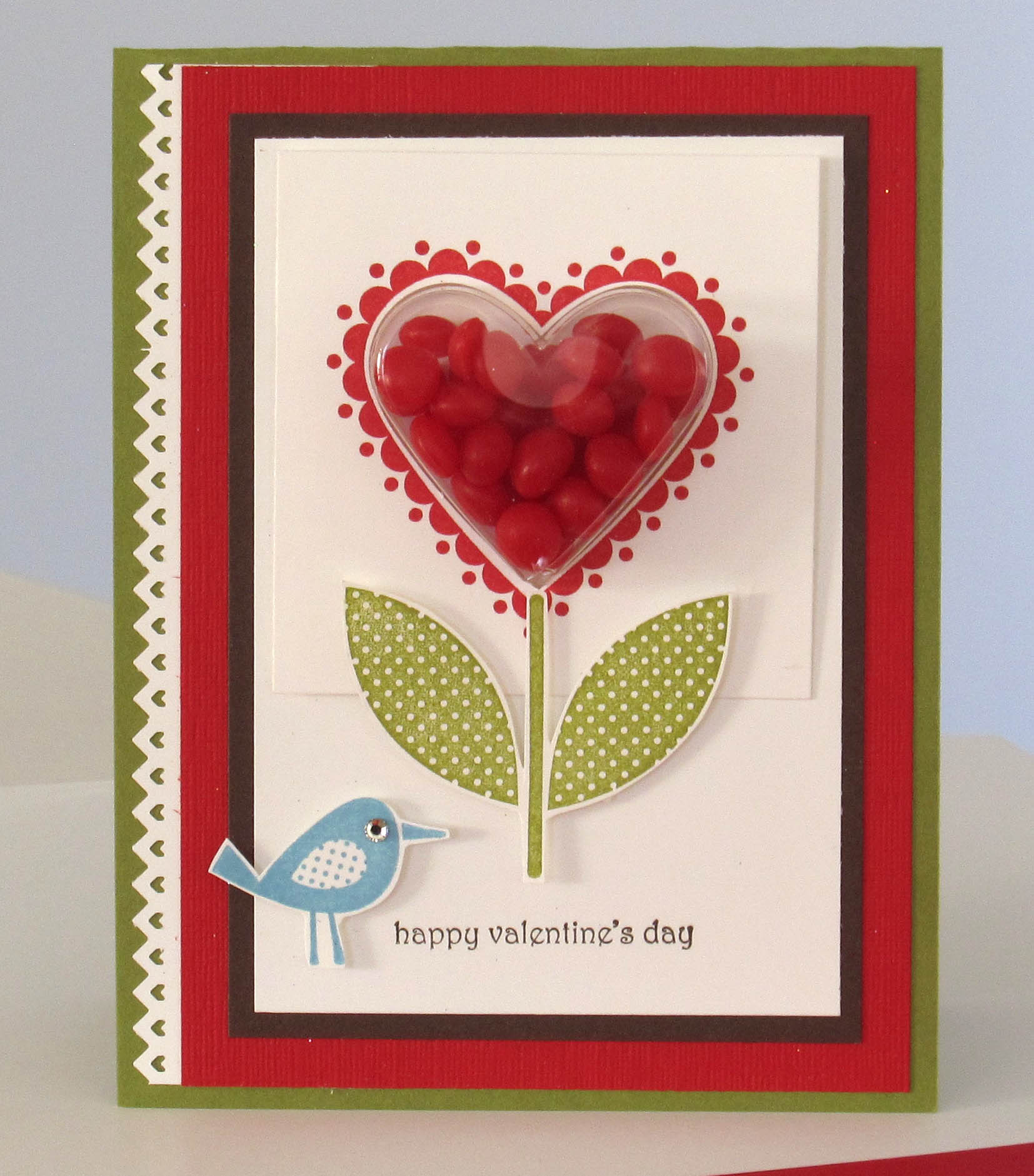 stampin up - heart treat cup valentine u0026 39 s card