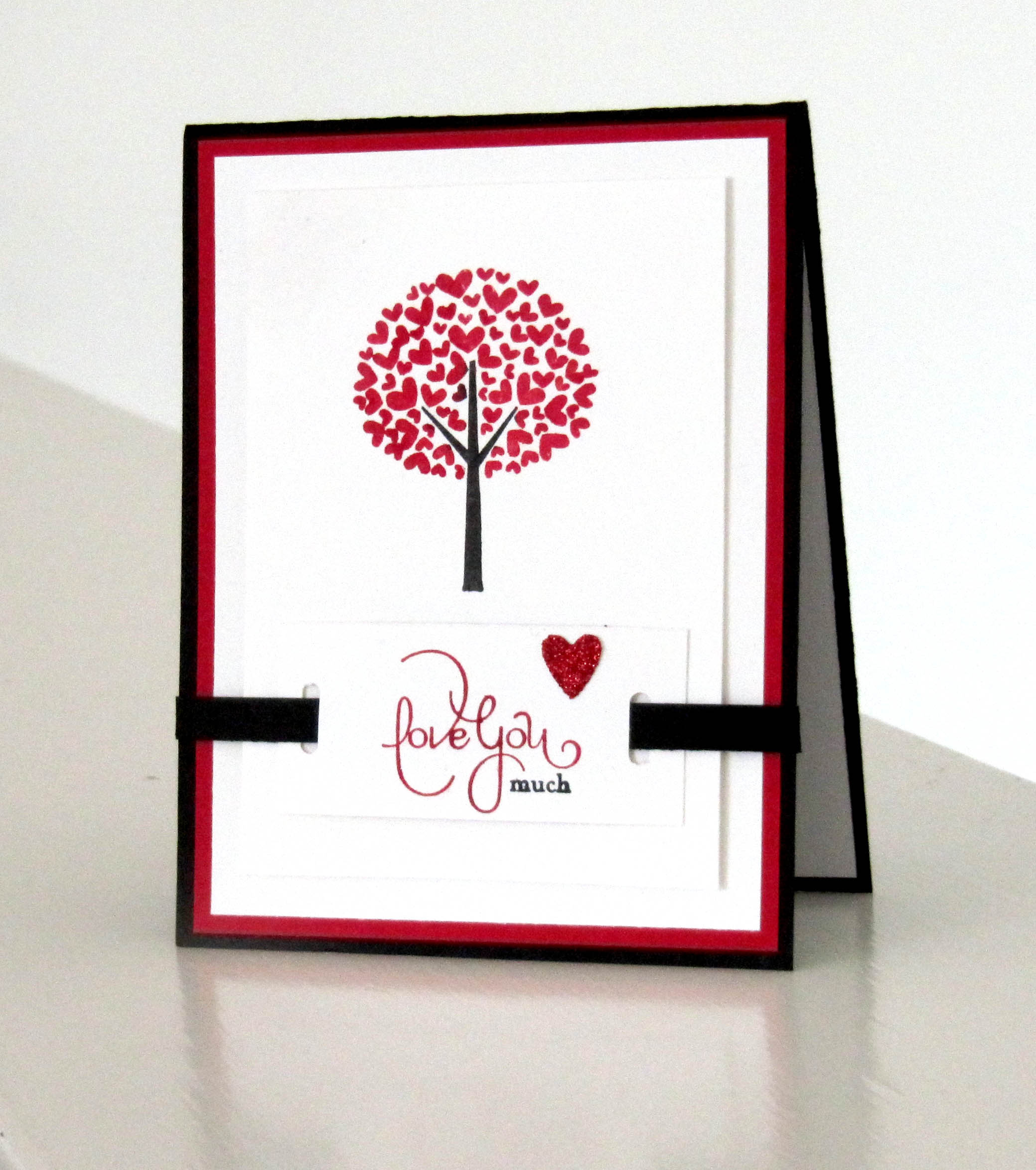 valentine defined stamp set from stampin up  card