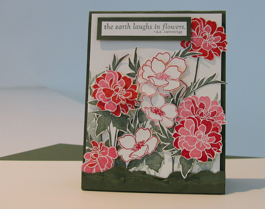 Stampin Up Utah Divas Color Challenge ~ Fabulous Florets