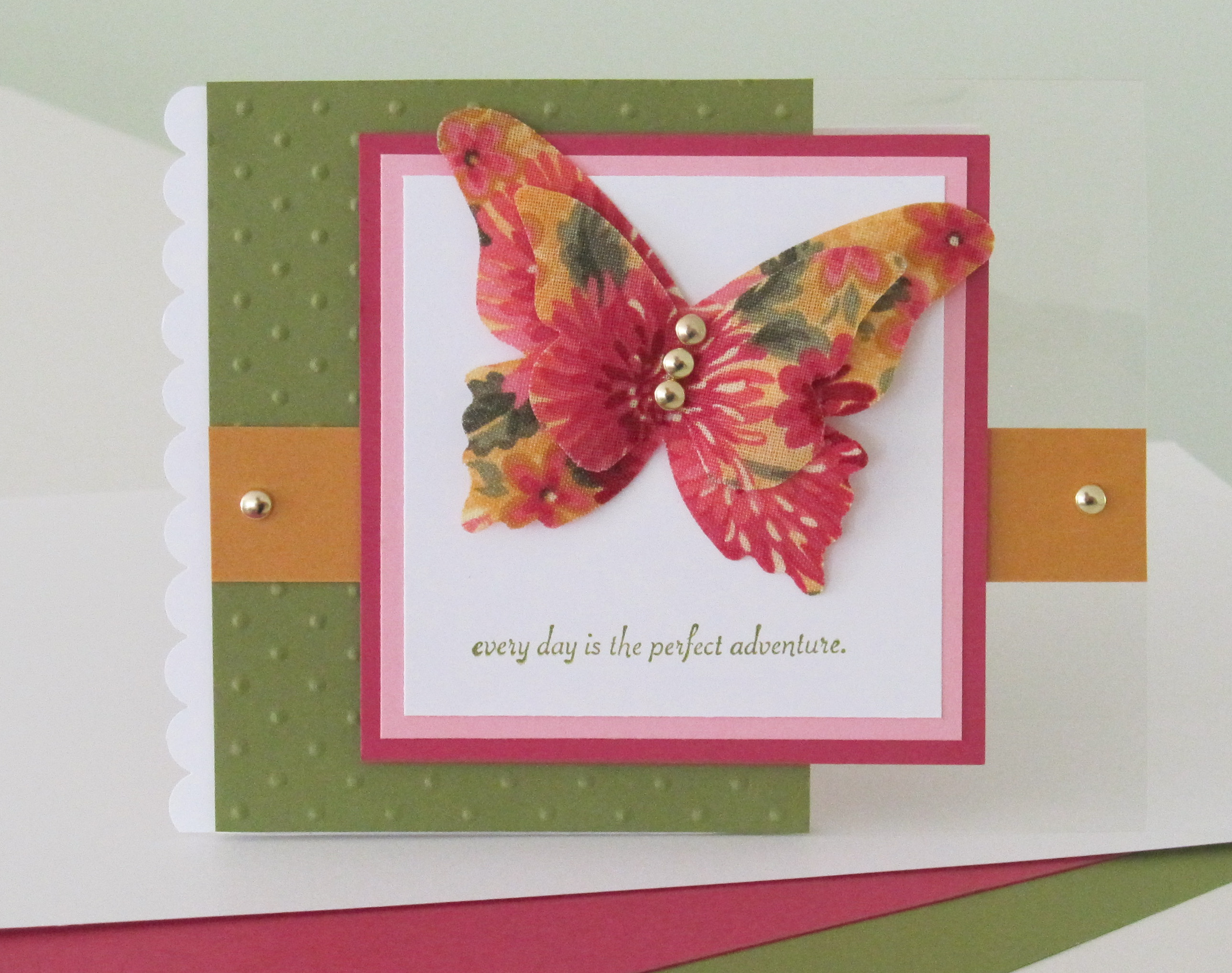 Today S Card Features The Stampin Up Beautiful Butterflies