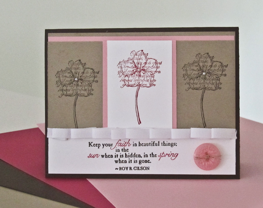 Stampin up faith in nature stamp set for Stampin pretty craft room