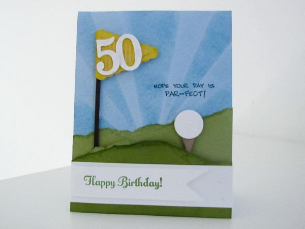 Stampin Up Punch Art Golf