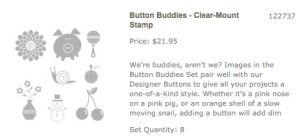 Stampin Up Button Buddies