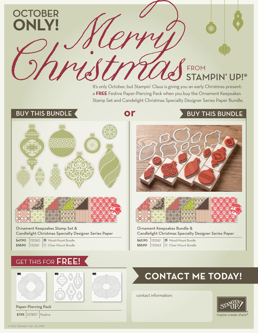 Stampin Up Holiday Gift Promotion