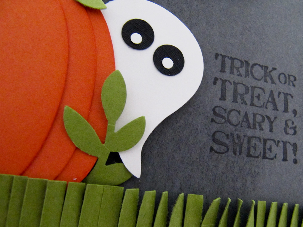 Stampin Up Punch Art Halloween Post By Demonstrator