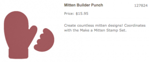 Stampin Up Make a Mitten ~ Acrylic Distress