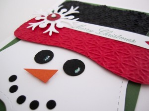Stampin Up Top Note Snowman