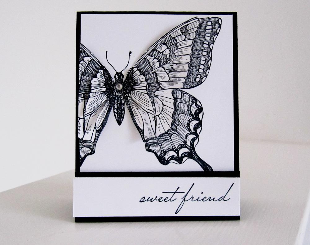 Открытка с бабочкой внутри