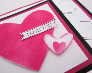 Stampin Up Valentines Day card with Aluminum Foil Video Tutorial
