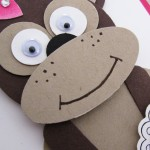 Stampin Up Punch Art Monkey