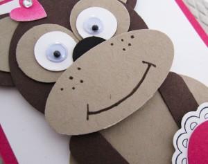 Stampin Up Punch Art Monkey