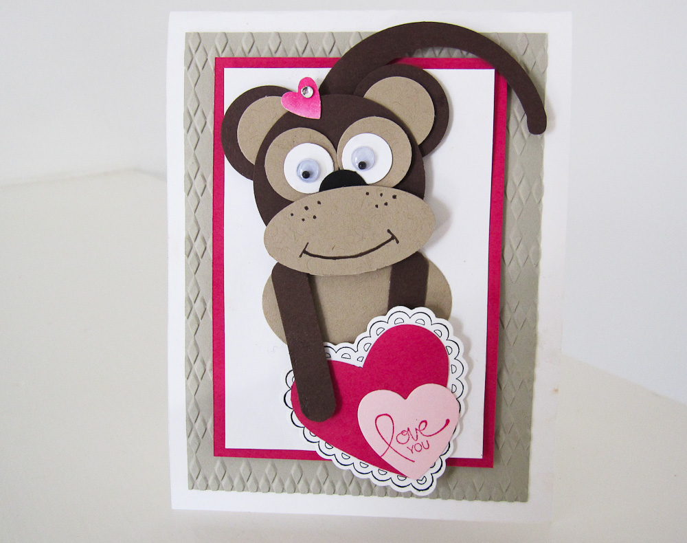 Stampin Up Punch Art Monkey With Video Tutorial Post By