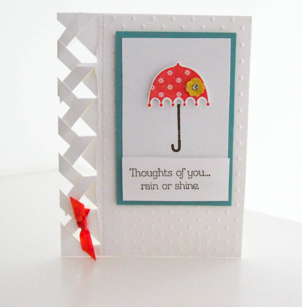 Stampin Up Rain Or Shine Braided Card Technique