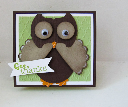 Stampin Up Punch Art Owl