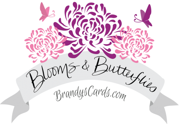 Blooms and Butterflies Logo - Brandyscards