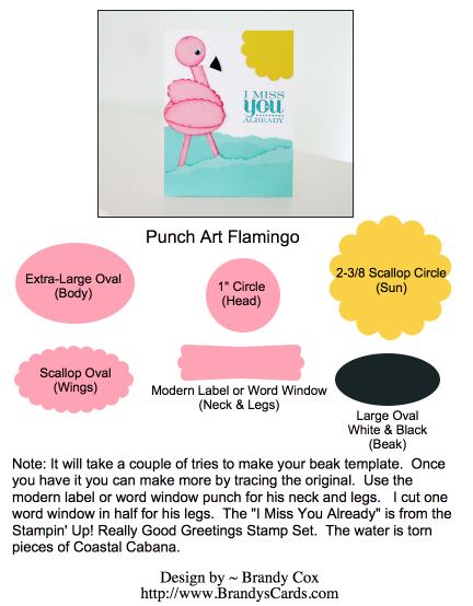 Stampin Up Flamingo Punch Art