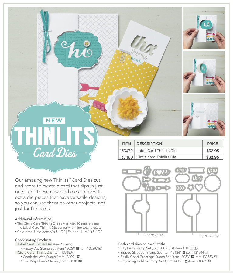 Stampin Up Stampin Up! Thinlits Card Dies   Woo Hoo!