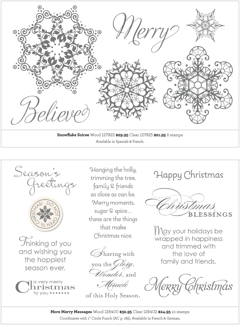 Stampin Up Holiday Carry Over List 2014