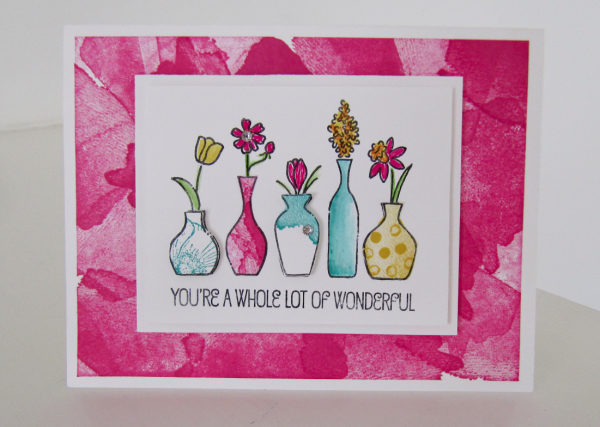 stampin up vivid vases stamp set