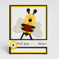 Stampin Up Punch Art Bee