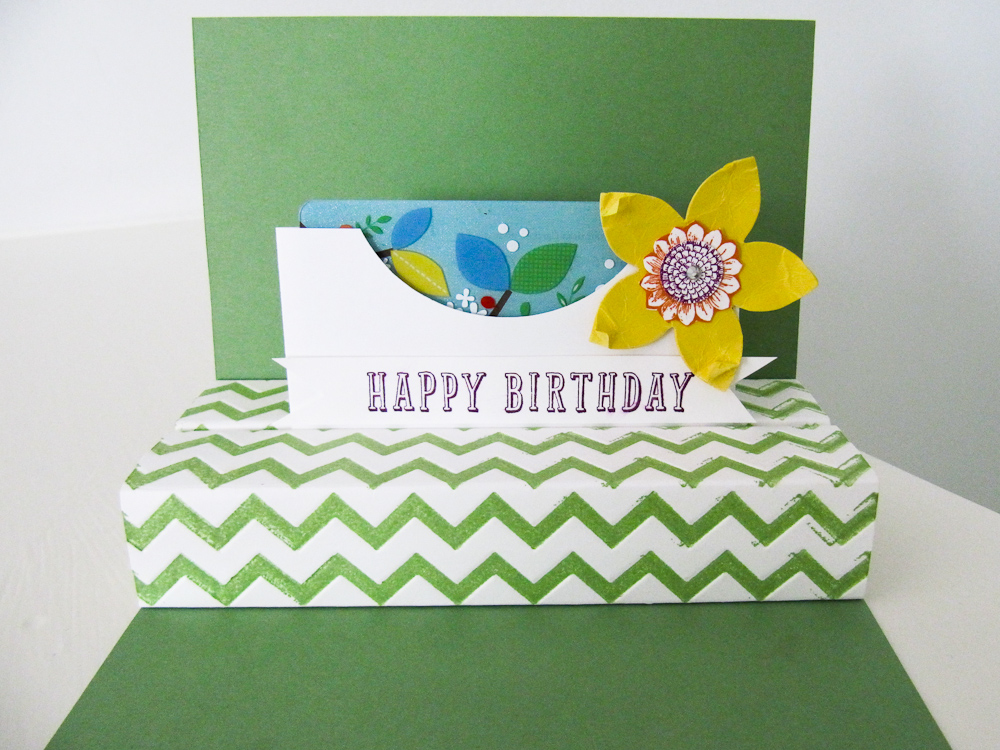 stampin up - flower frenzy gift card holder - video tutorial