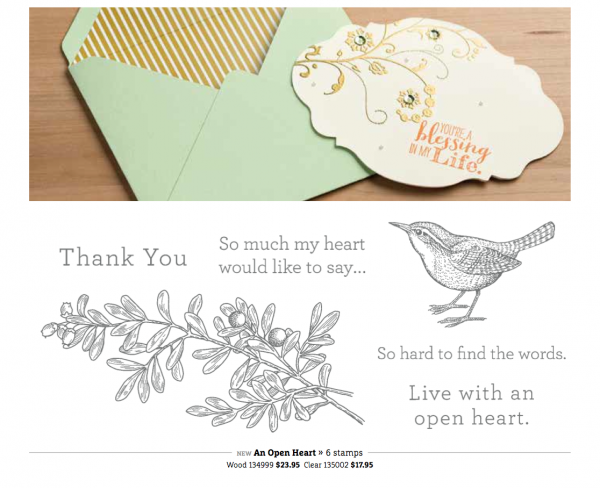 Stampin Up An Open Heart Stamp Set