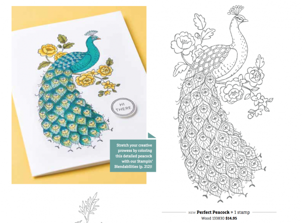 Stampin Up Perfect Peacock Stamp SEt