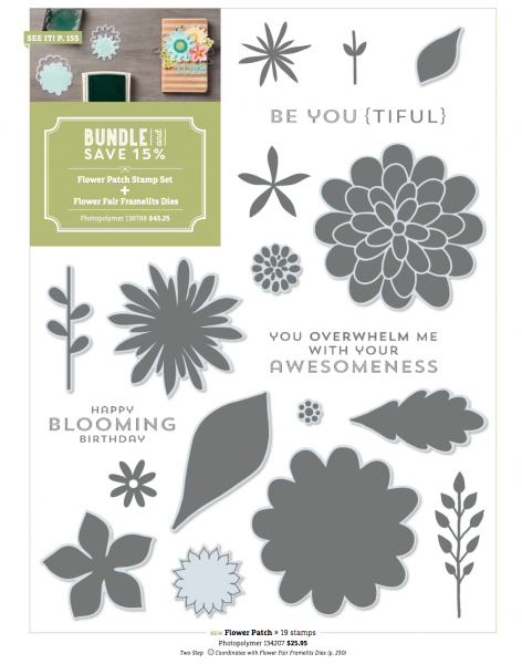 Stampin Up Flower Patch Stamp Set