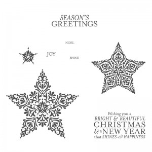 Stampin Up Bright and Beautiful Stars