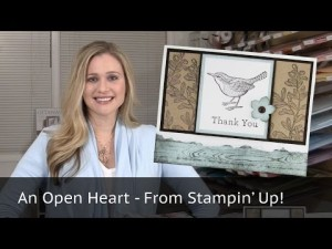 Video thumbnail for youtube video Stampin Up - 5 Cards 1 Stamp Set - An Open Heart Video Tutorial - Post By Demonstrator Brandy Cox
