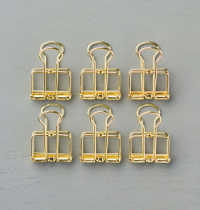 141673 Gold Binder Clips