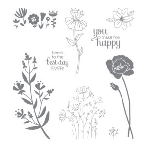 143872 Flirty Flowers - Clear