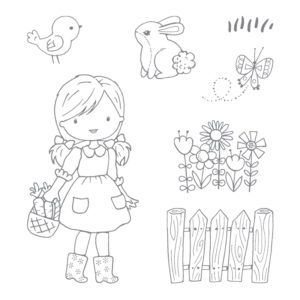 143952 Garden Girl - Clear