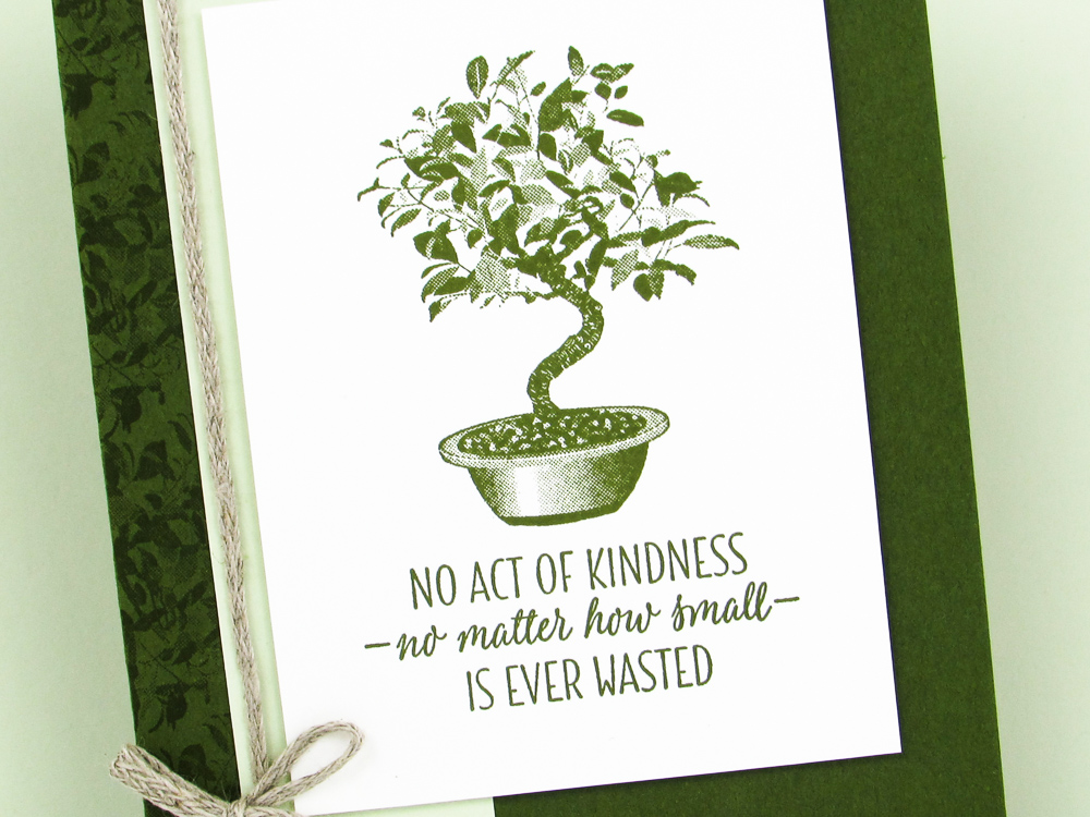 Stampin Up All The Good Things Bonsai Tree Post By Demonstrator Brandy Cox