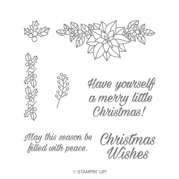 Stampin Up Peaceful Poinsettia Video Tutorial Post By Demonstrator Brandy Cox