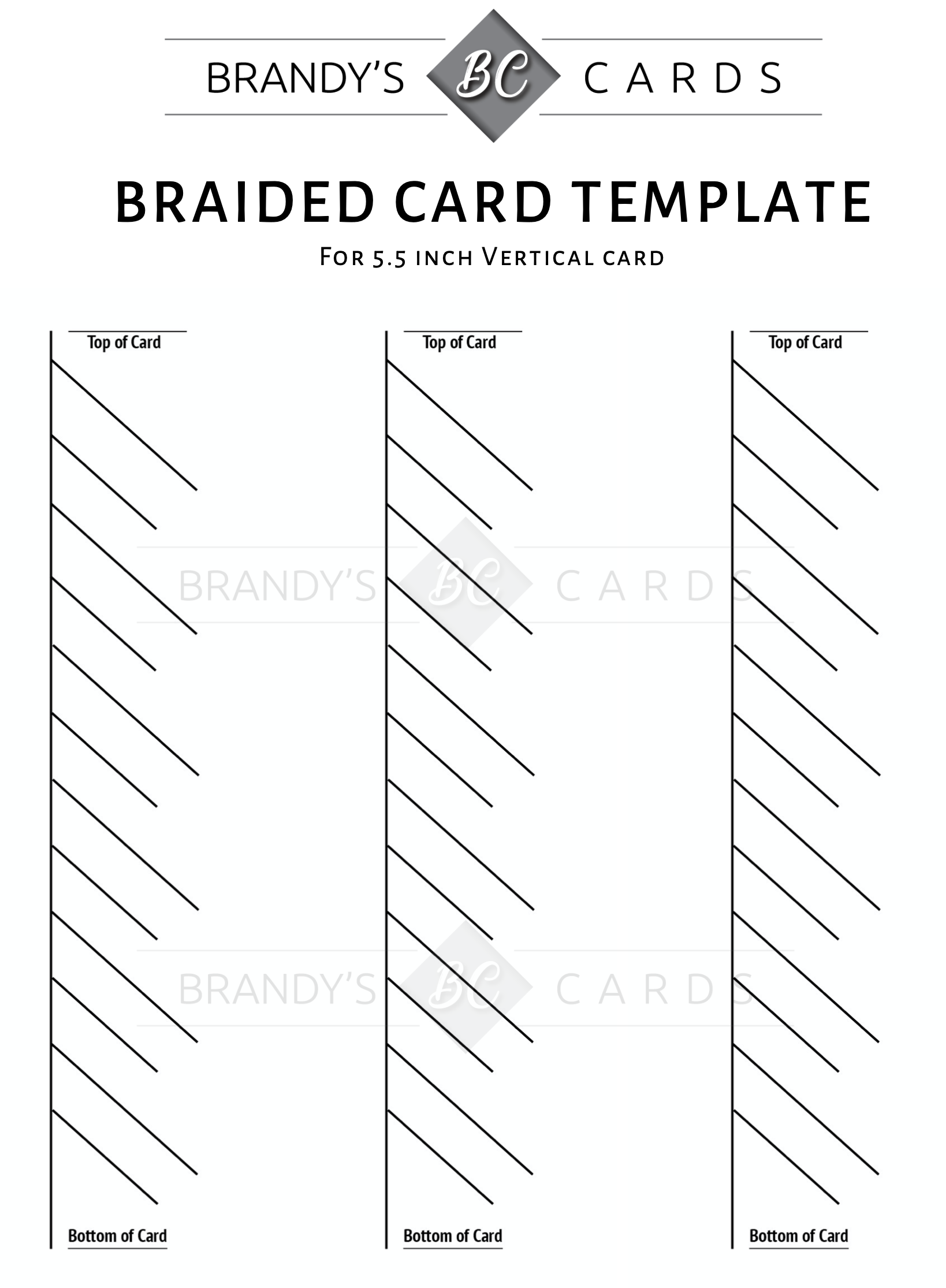Photo Card Template from brandyscards.com