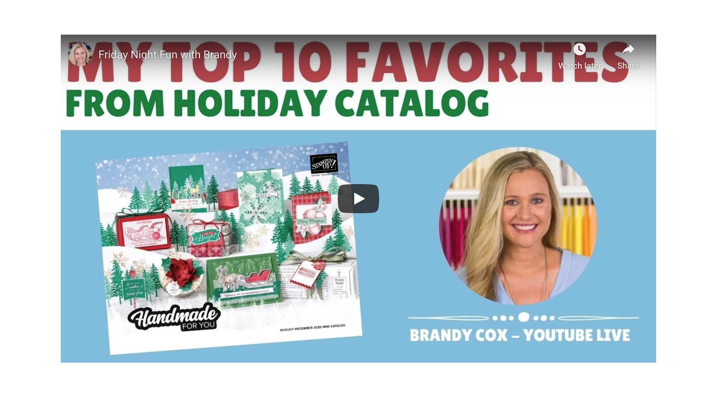 Brandy Cox Christmas Cards 2020 Stampin Up   Brandy's Top 10 Holiday Catalog Products   Post By