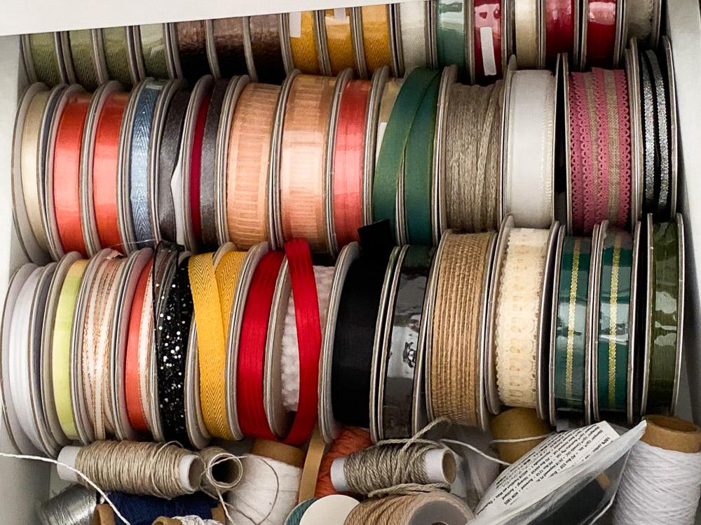 Ribbon Drawer - Stampin Up Craft Room Tour