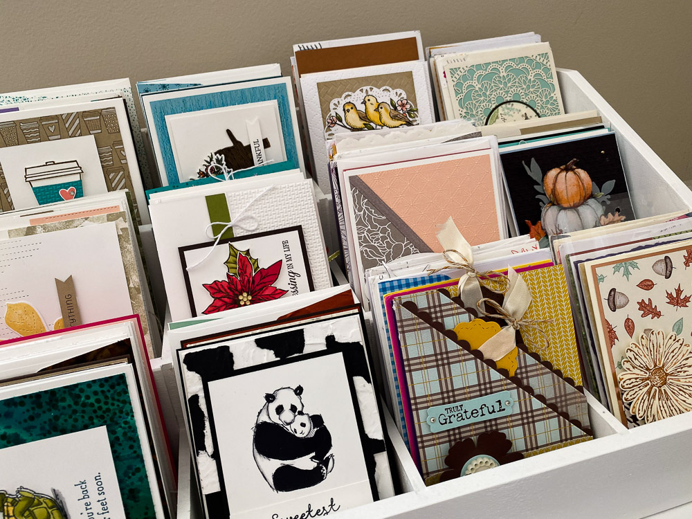 Card Holder - Stampin Up Craft Room Tour