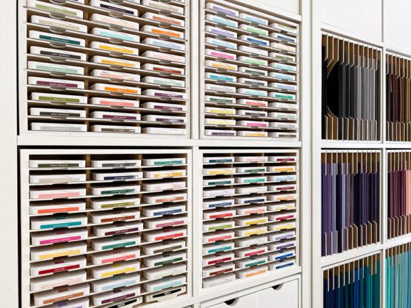 Ink Pad Holder - Stampin Up Craft Room Tour