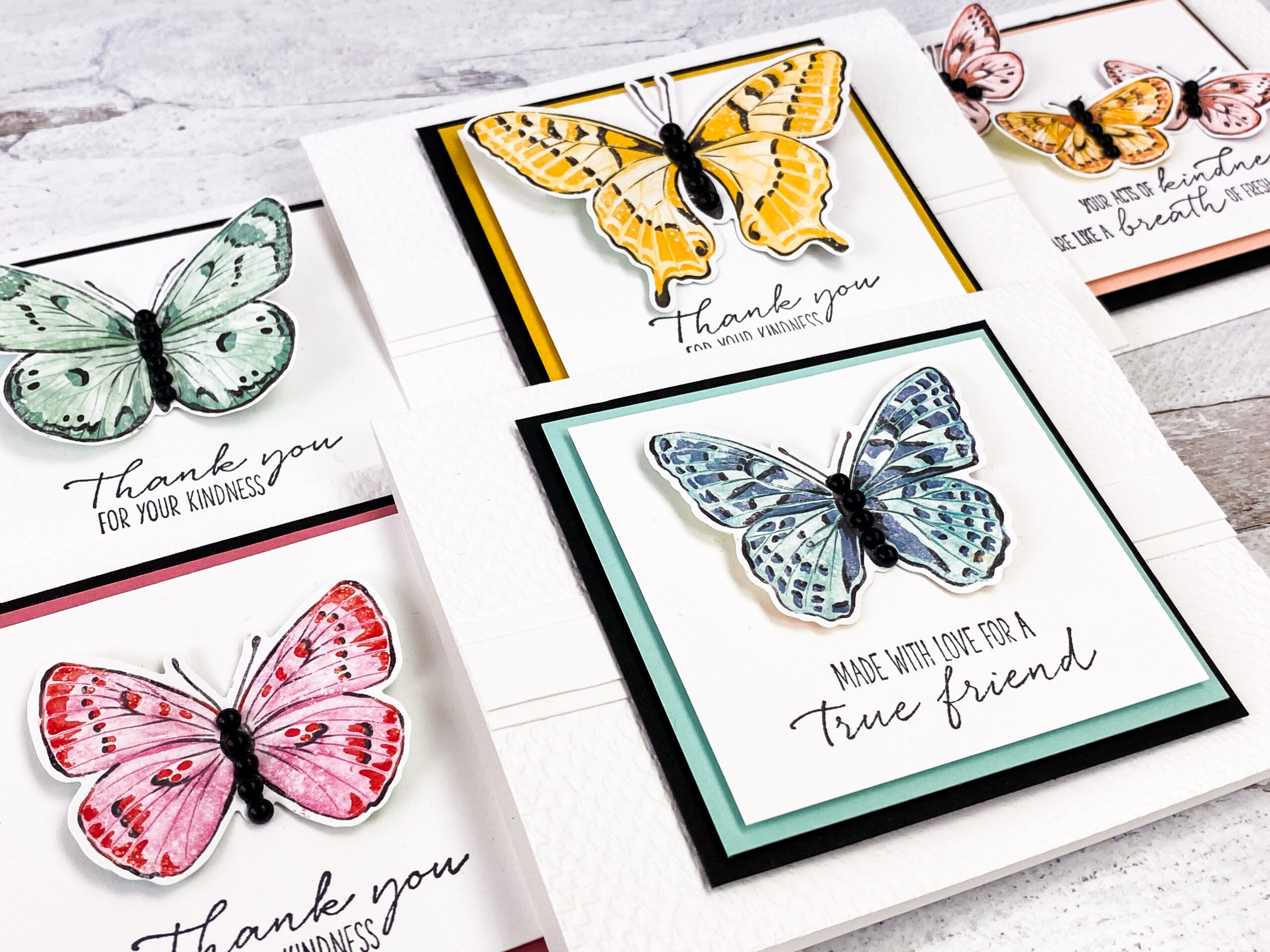 Butterfly Thank You Cards Thank You 6 card bundle