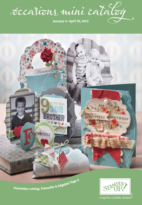 Stampin' Up! 2012 Occasions Mini Catalog