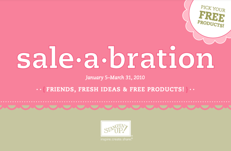 Stampin' Up! 2010 Sale-A-Bration Brochure